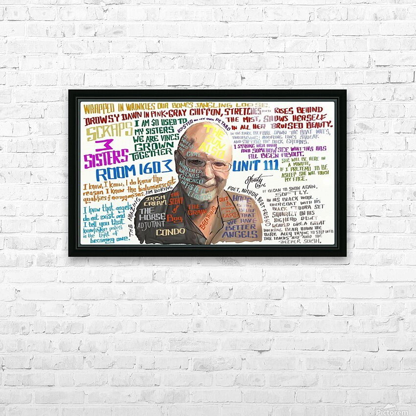 Jim Boring HD Sublimation Metal print with Decorating Float Frame (BOX)
