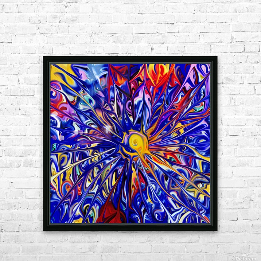 Abstract Rainbow Blue Sun HD Sublimation Metal print with Decorating Float Frame (BOX)