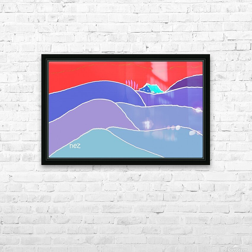 The Zone HD Sublimation Metal print with Decorating Float Frame (BOX)