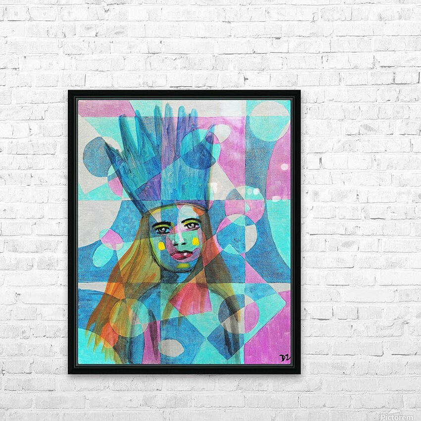 Woman in blue-5 HD Sublimation Metal print with Decorating Float Frame (BOX)