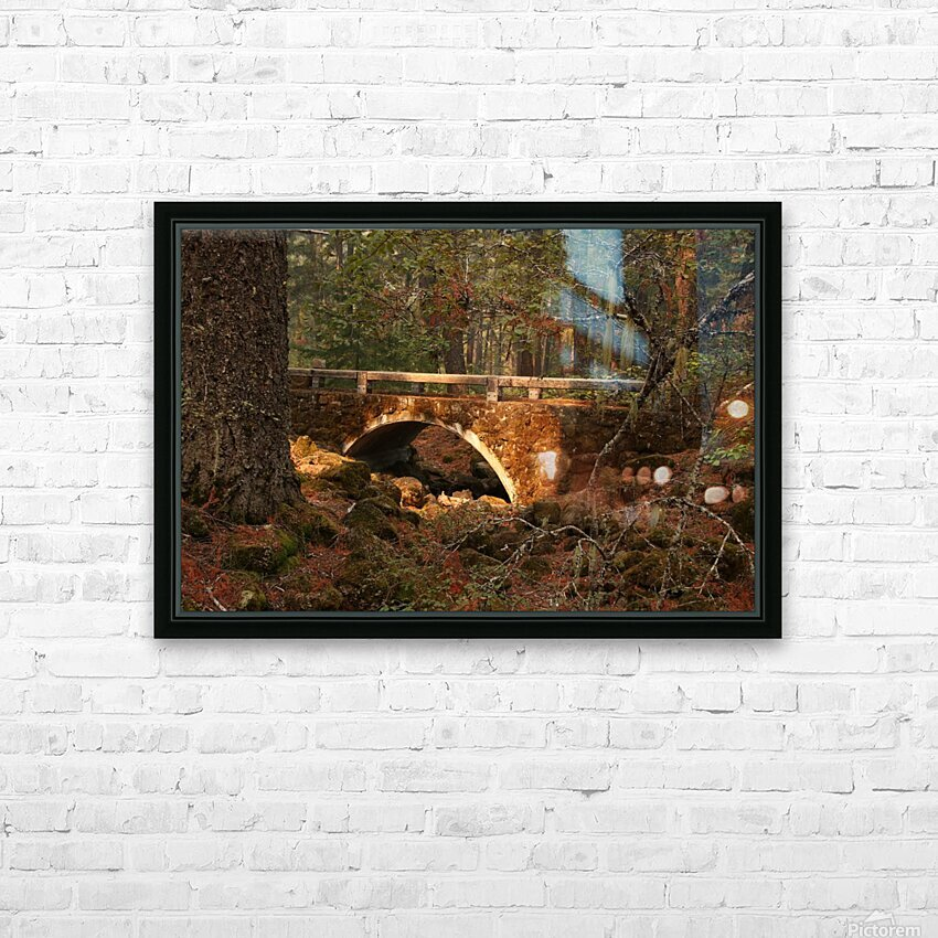 Troll Bridge HD Sublimation Metal print with Decorating Float Frame (BOX)