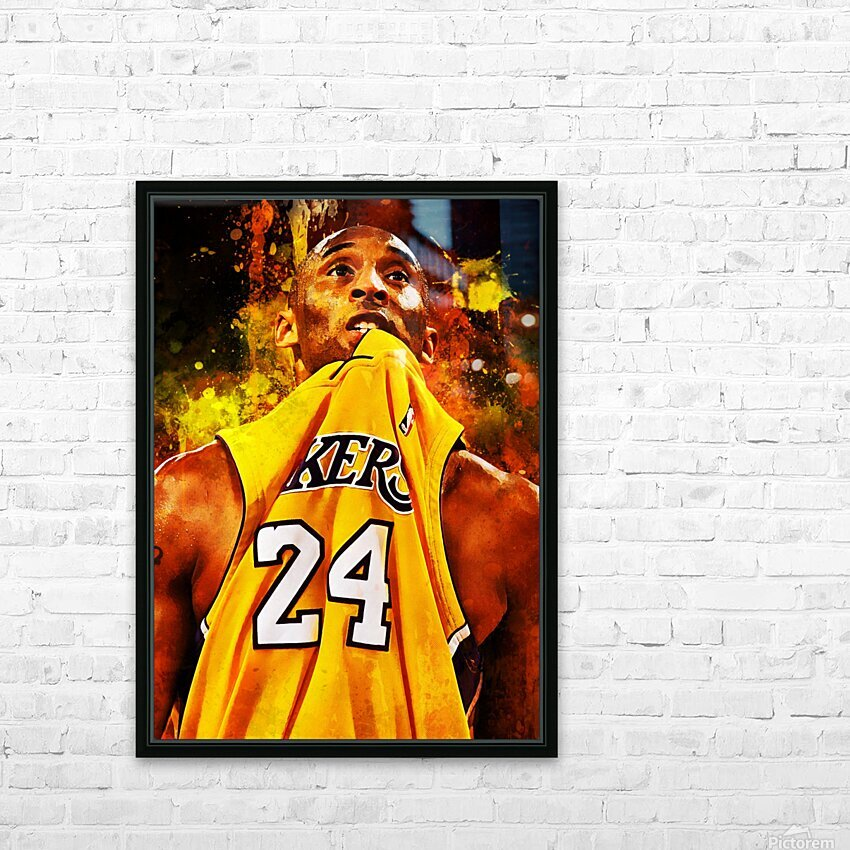 Kobe Bryant HD Sublimation Metal print with Decorating Float Frame (BOX)