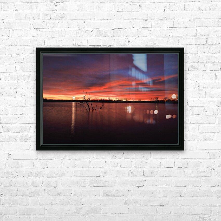 Lake Wellington Sunset HD Sublimation Metal print with Decorating Float Frame (BOX)