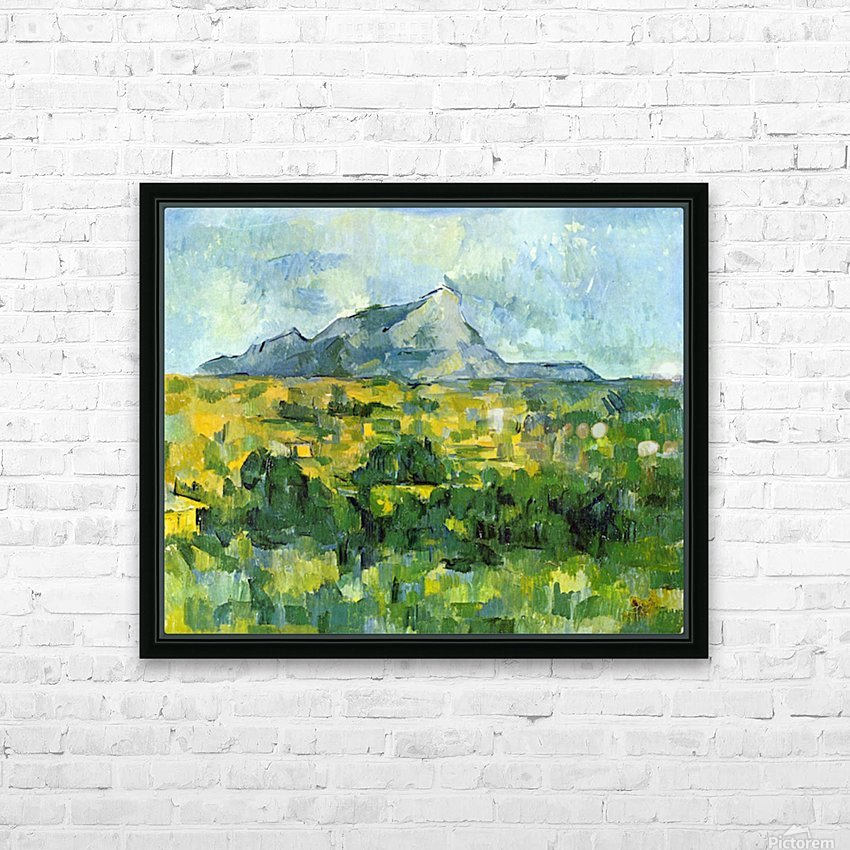 Mount St. Victiore by Cezanne HD Sublimation Metal print with Decorating Float Frame (BOX)