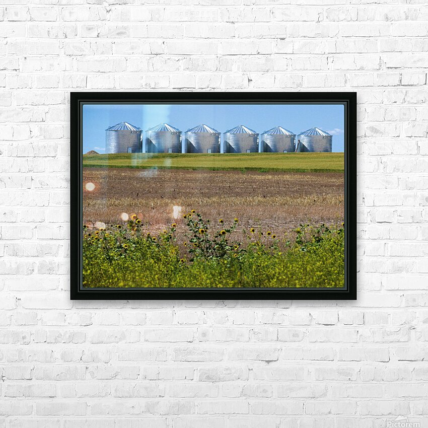 Grain Silos HD Sublimation Metal print with Decorating Float Frame (BOX)