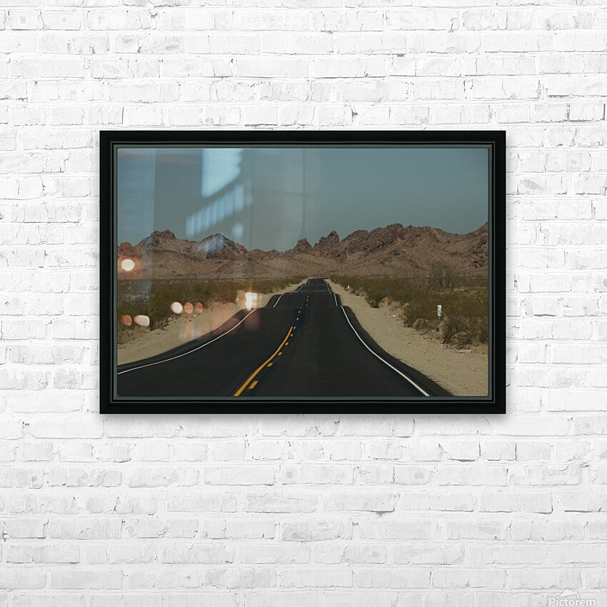 Desert Wave HD Sublimation Metal print with Decorating Float Frame (BOX)