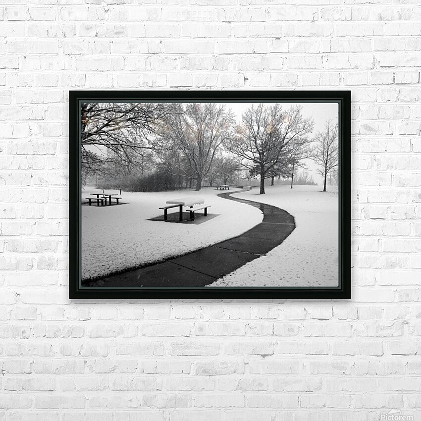 Winter Picnic HD Sublimation Metal print with Decorating Float Frame (BOX)