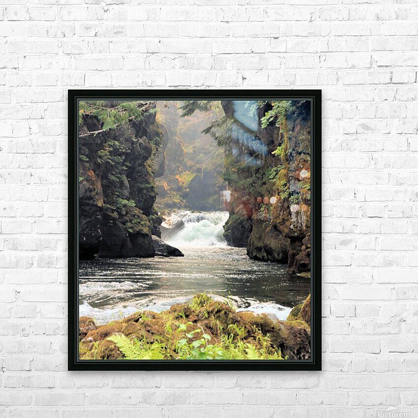 Rogue River Canyon HD Sublimation Metal print with Decorating Float Frame (BOX)