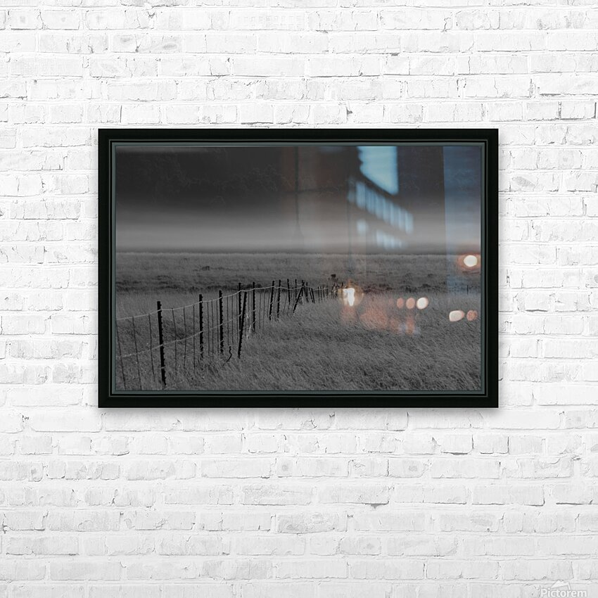 Fog at Dawn HD Sublimation Metal print with Decorating Float Frame (BOX)