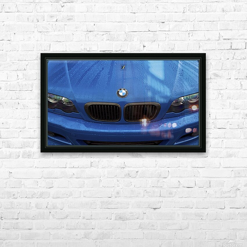 BMW BLU REIGN HD Sublimation Metal print with Decorating Float Frame (BOX)
