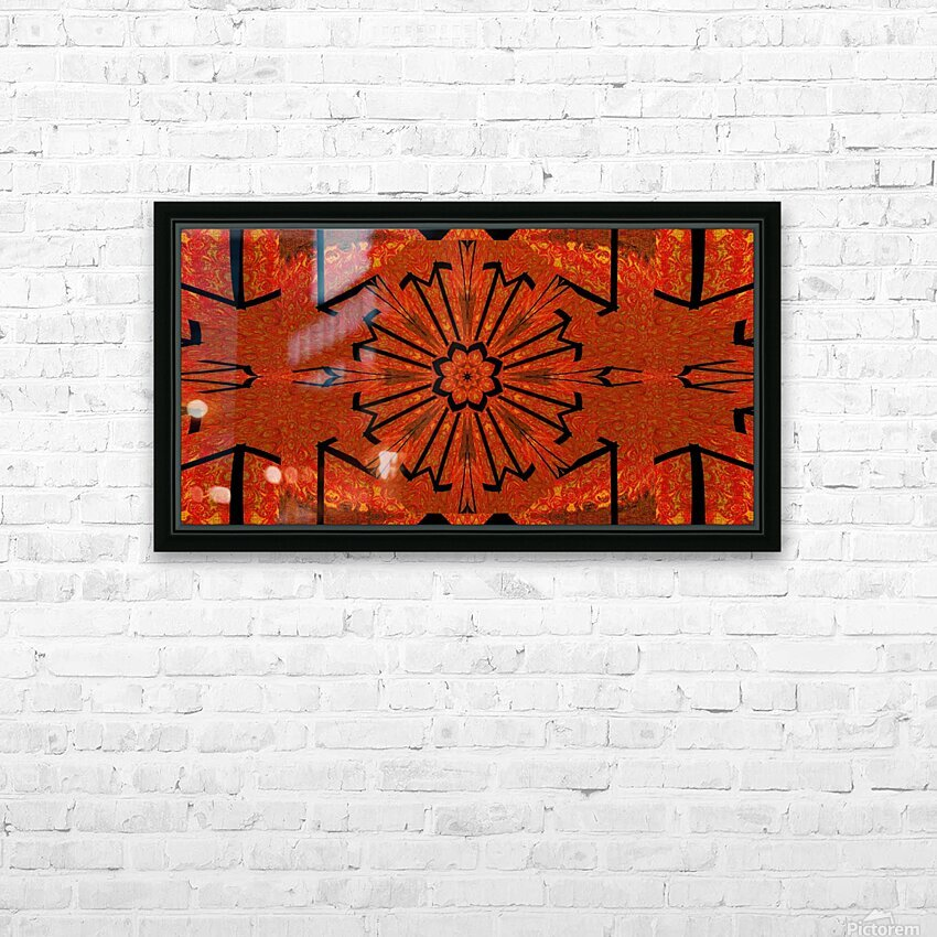 Lotus In Flames 1 HD Sublimation Metal print with Decorating Float Frame (BOX)