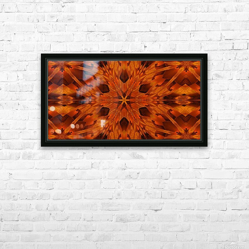 Copper Lotus 2 HD Sublimation Metal print with Decorating Float Frame (BOX)