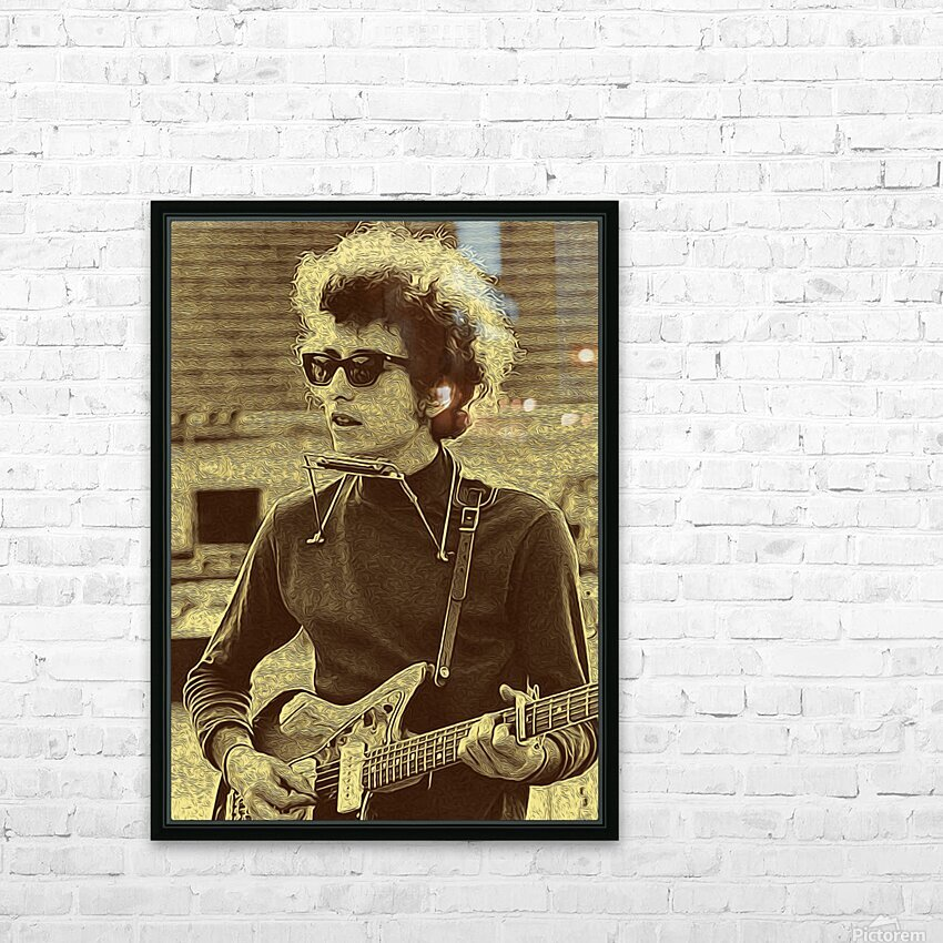 Bob Dylan  American singer Collection 3  HD Sublimation Metal print with Decorating Float Frame (BOX)