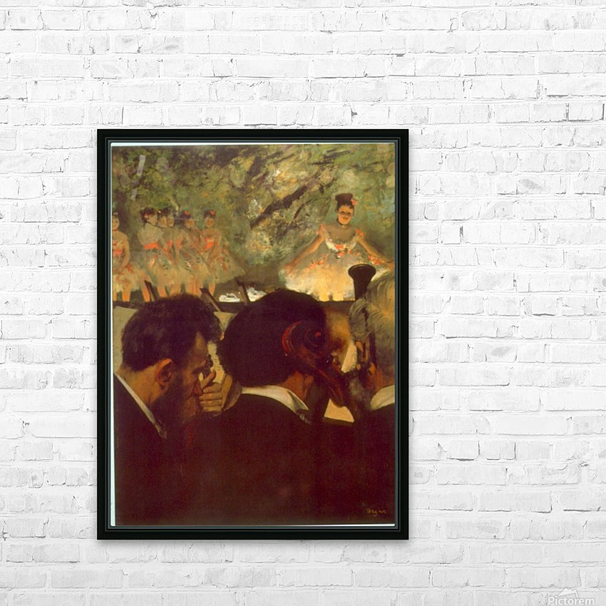 Musicians by Degas HD Sublimation Metal print with Decorating Float Frame (BOX)