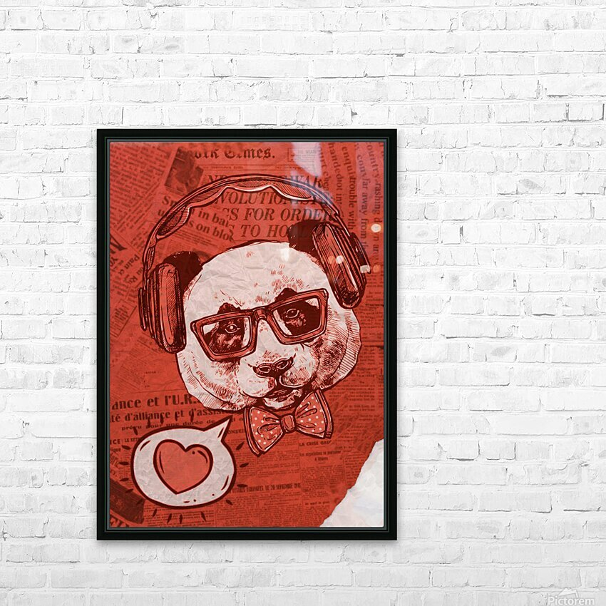 Cool Panda HD Sublimation Metal print with Decorating Float Frame (BOX)