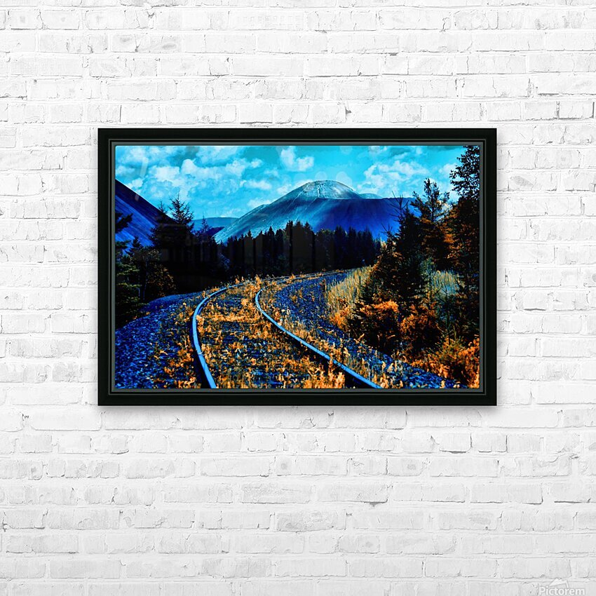 Rail  HD Sublimation Metal print with Decorating Float Frame (BOX)