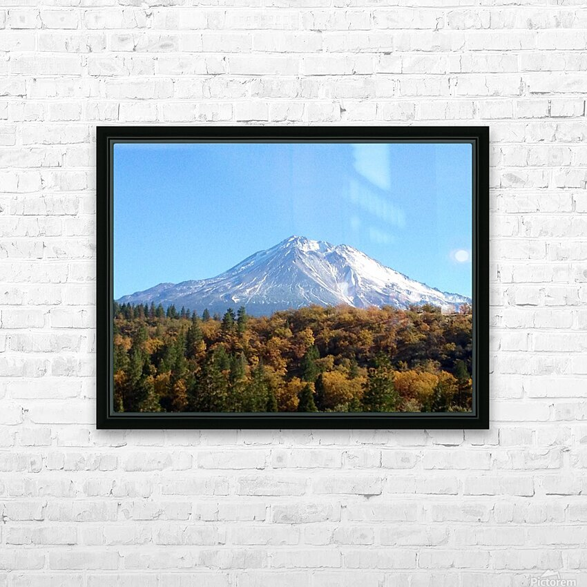 Mt Shasta in Autumn HD Sublimation Metal print with Decorating Float Frame (BOX)