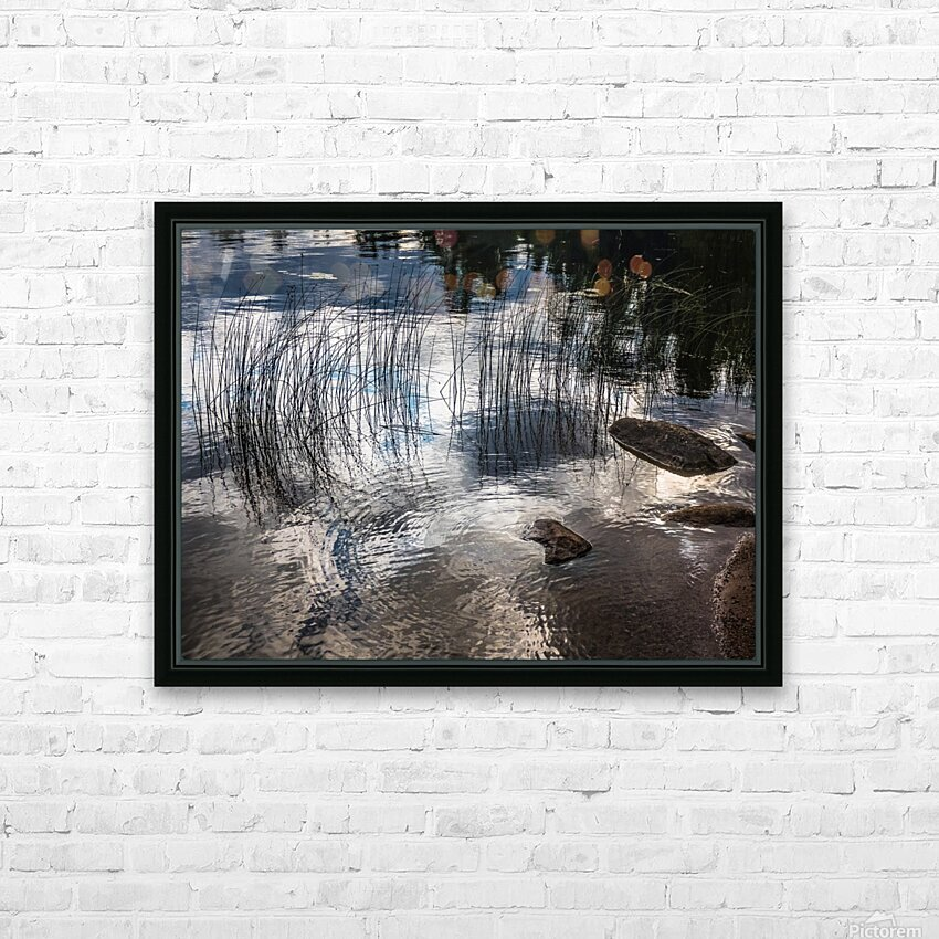 water circles HD Sublimation Metal print with Decorating Float Frame (BOX)