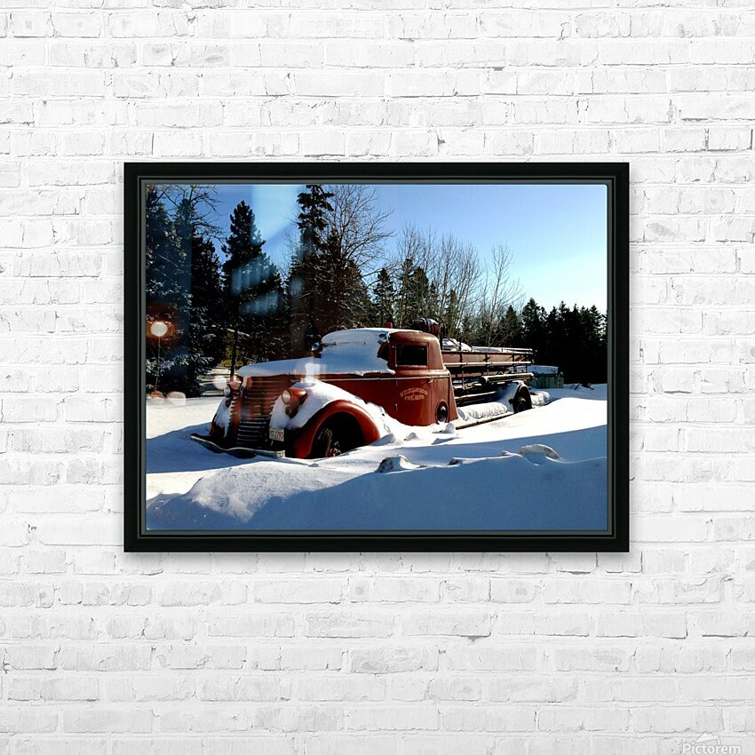 superior fire truck HD Sublimation Metal print with Decorating Float Frame (BOX)