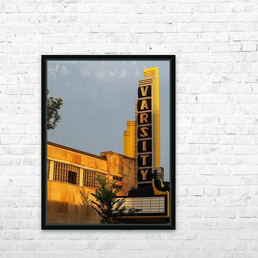 Varsity Theater  HD Sublimation Metal print with Decorating Float Frame (BOX)