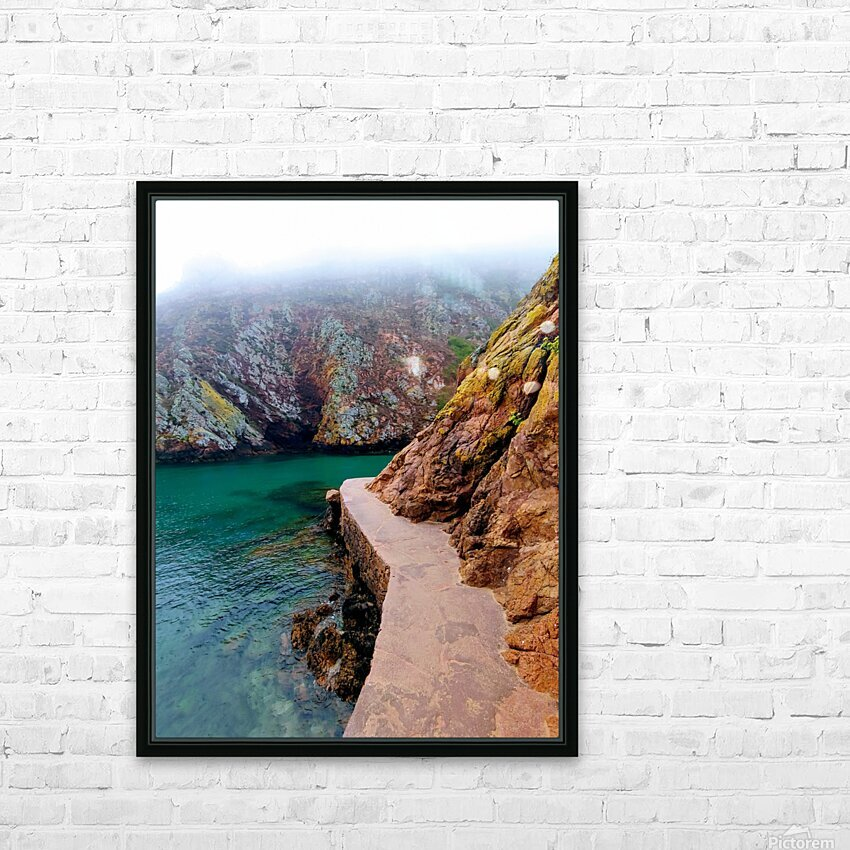 SEASIDE PATH HD Sublimation Metal print with Decorating Float Frame (BOX)