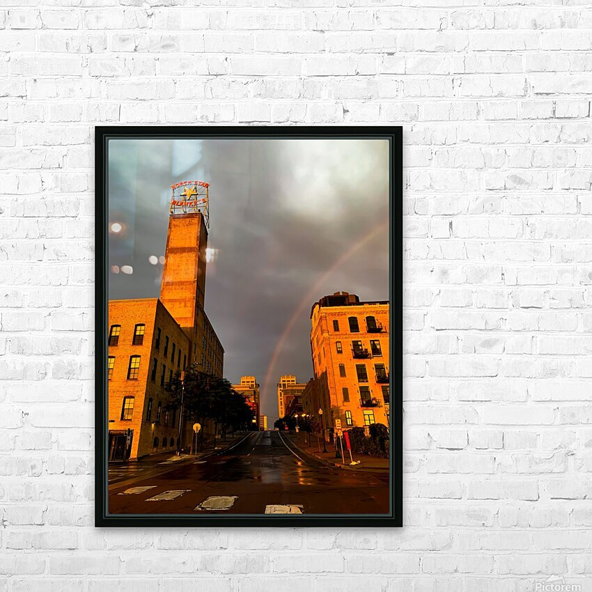 Mill District Rainbow HD Sublimation Metal print with Decorating Float Frame (BOX)