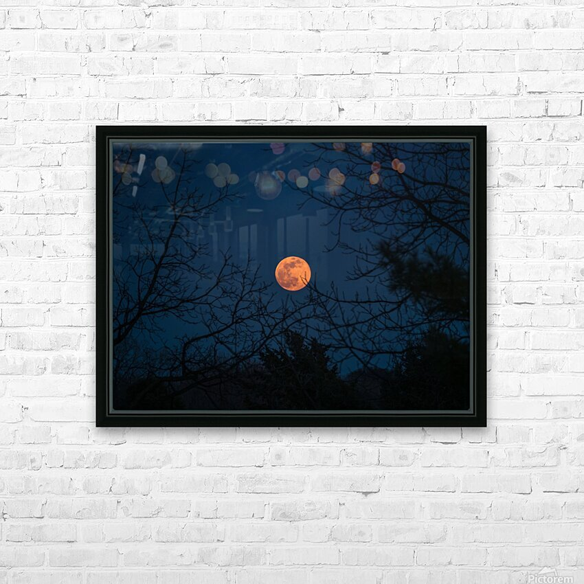 Moonrise HD Sublimation Metal print with Decorating Float Frame (BOX)