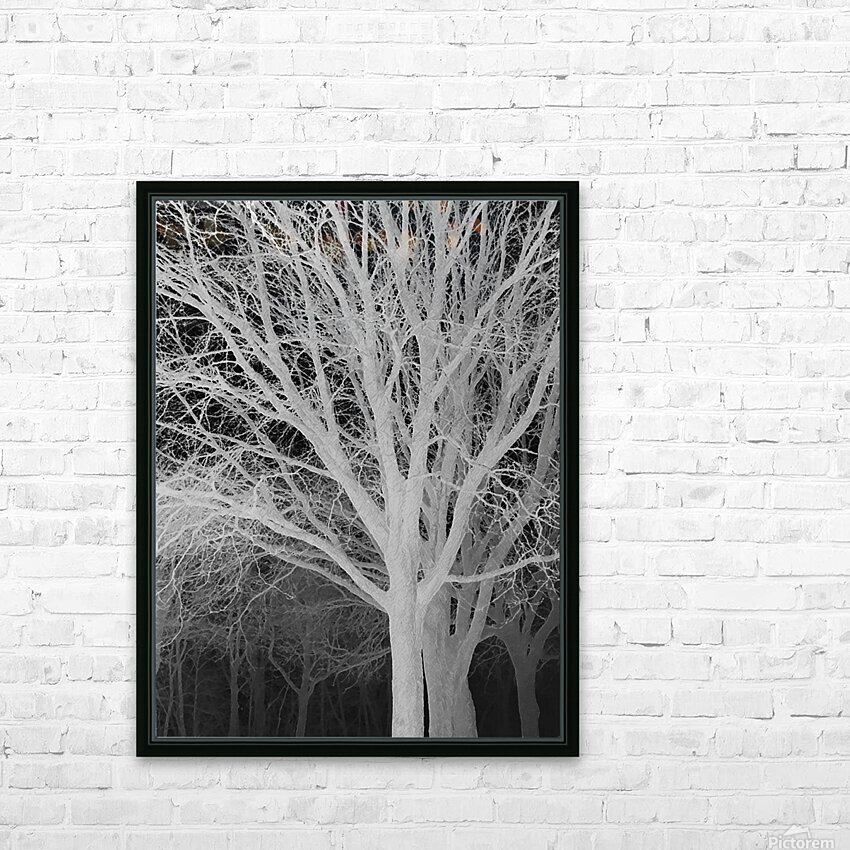 Ghost Trees HD Sublimation Metal print with Decorating Float Frame (BOX)
