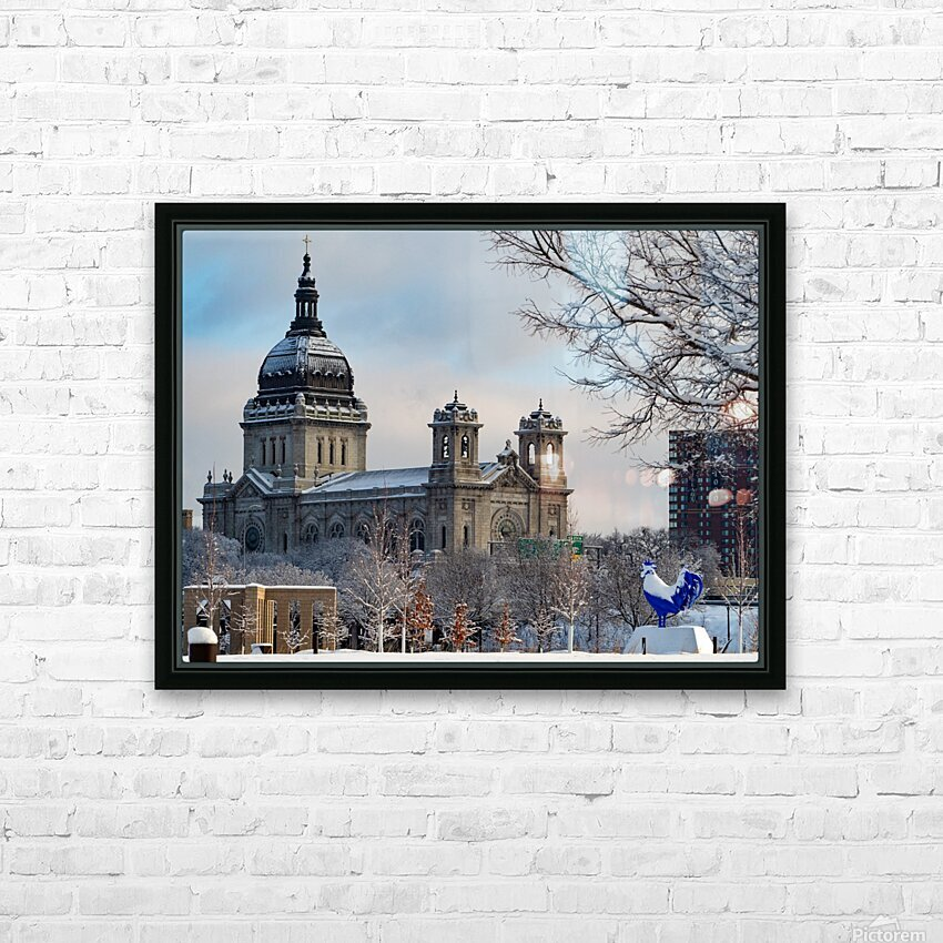 Basilica and Blue Rooster  HD Sublimation Metal print with Decorating Float Frame (BOX)