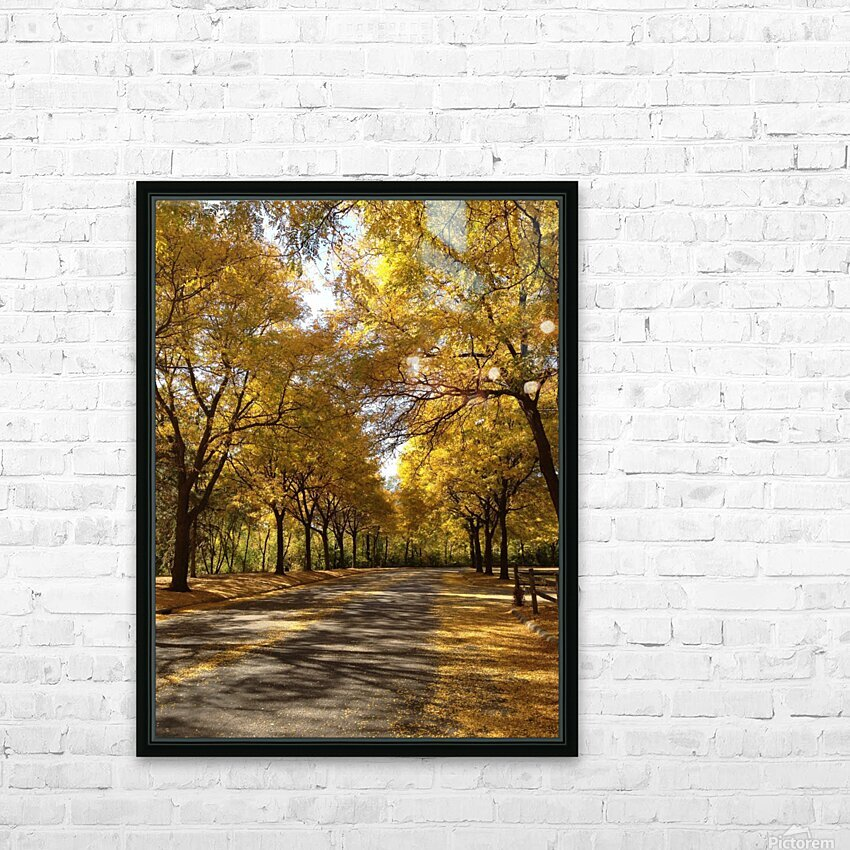 Autumn on Olivers End HD Sublimation Metal print with Decorating Float Frame (BOX)