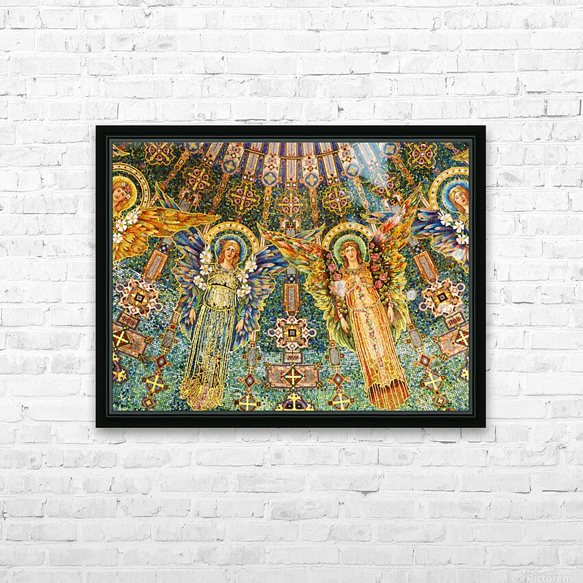 mosaic angels HD Sublimation Metal print with Decorating Float Frame (BOX)