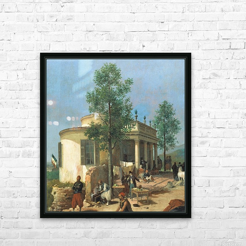 Zouave camp on Brescia city walls in June 1859 HD Sublimation Metal print with Decorating Float Frame (BOX)
