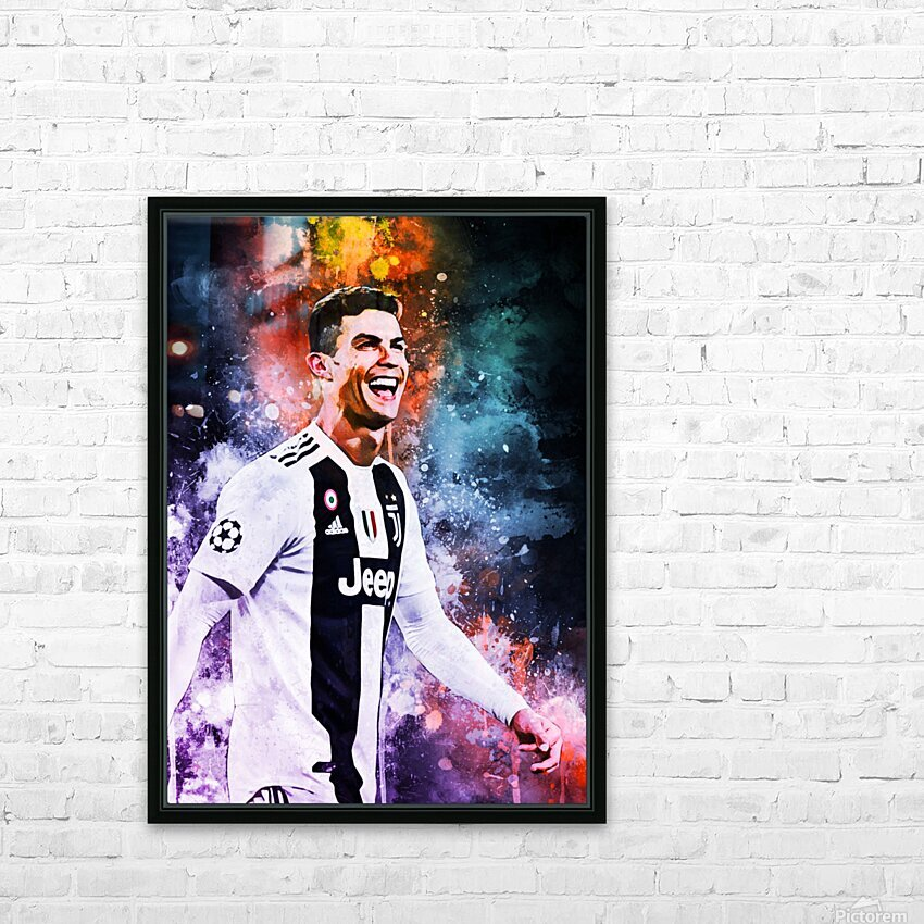 Cristiano Ronaldo HD Sublimation Metal print with Decorating Float Frame (BOX)