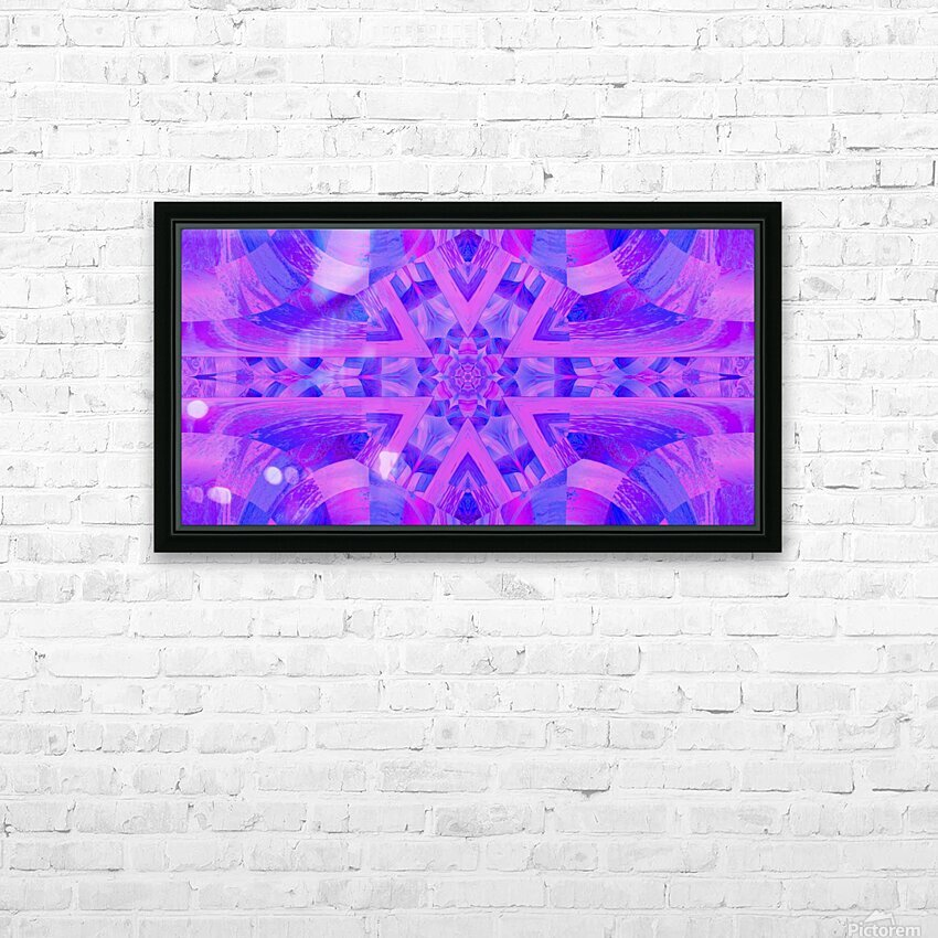 Lotus In Mist HD Sublimation Metal print with Decorating Float Frame (BOX)