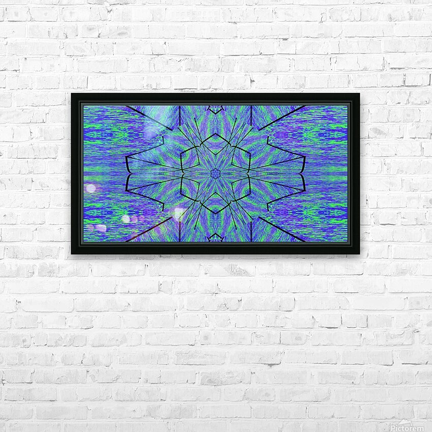 Light Of The Blue Moon Lotus HD Sublimation Metal print with Decorating Float Frame (BOX)