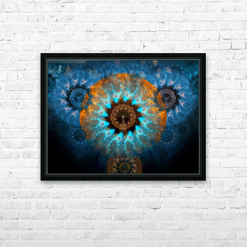 Pendant of winter sun HD Sublimation Metal print with Decorating Float Frame (BOX)