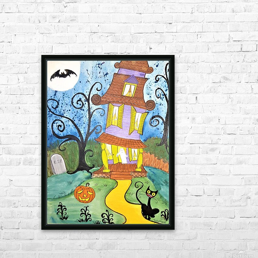Spooktacular Night  HD Sublimation Metal print with Decorating Float Frame (BOX)