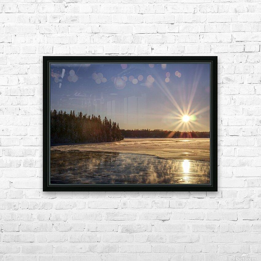 lac Sebastien HD Sublimation Metal print with Decorating Float Frame (BOX)