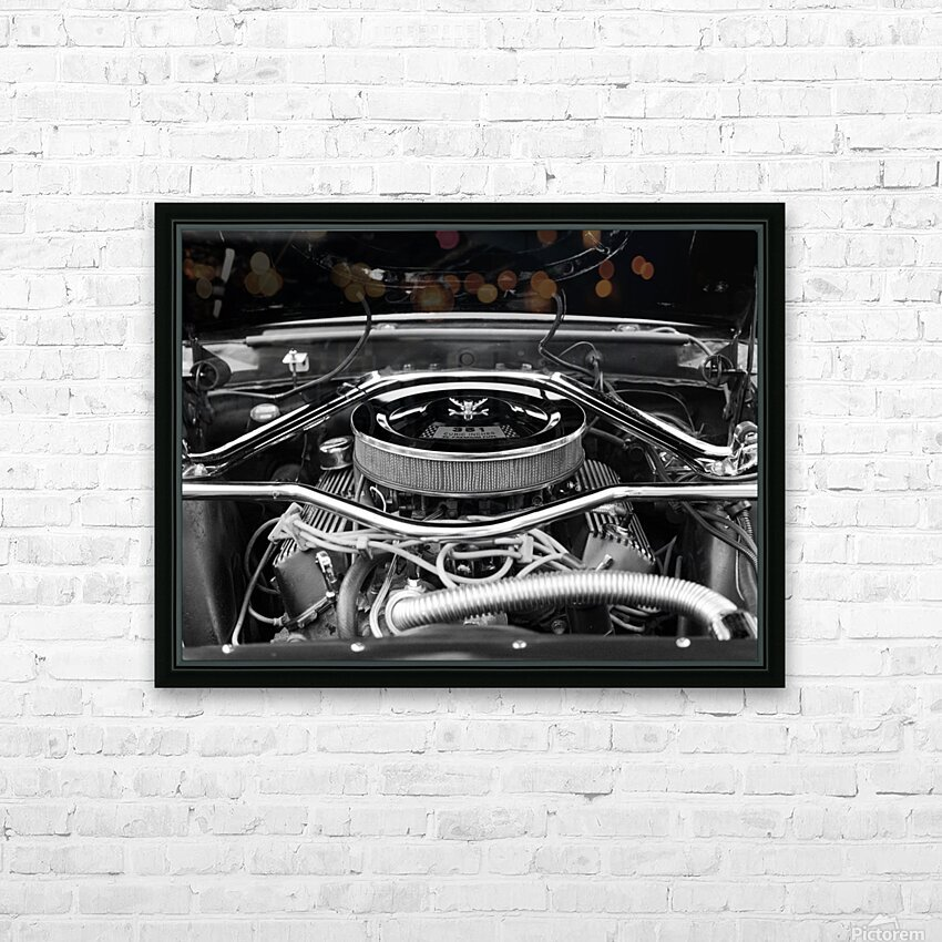 351 Mustang HD Sublimation Metal print with Decorating Float Frame (BOX)