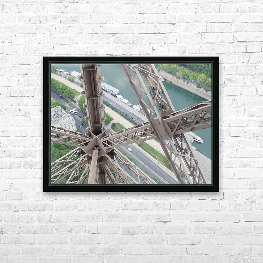 Tour Eiffel HD Sublimation Metal print with Decorating Float Frame (BOX)