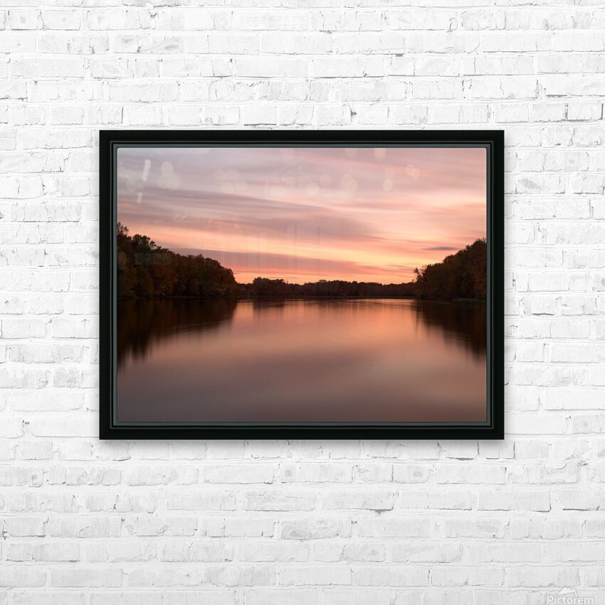 Coucher de soleil HD Sublimation Metal print with Decorating Float Frame (BOX)