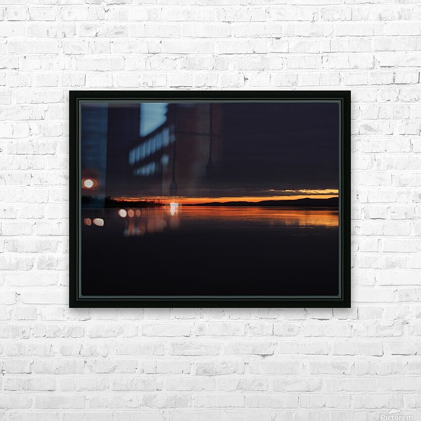 coucher flamboyant HD Sublimation Metal print with Decorating Float Frame (BOX)