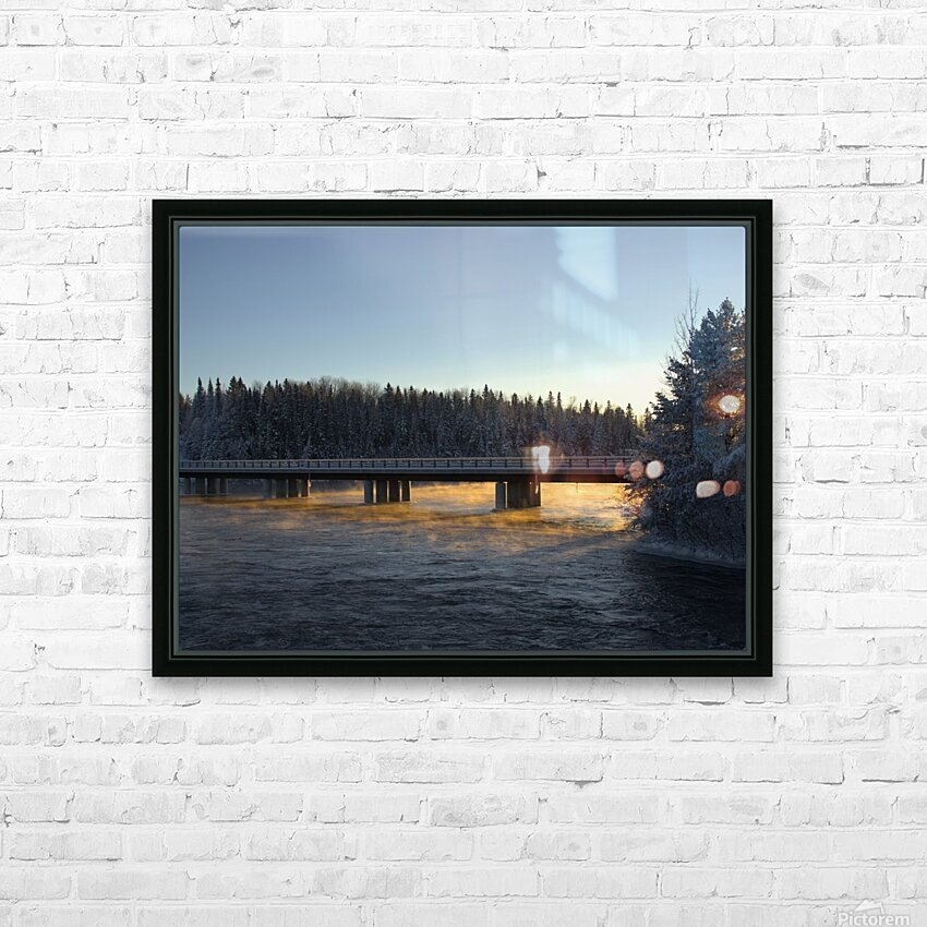 pont soleil HD Sublimation Metal print with Decorating Float Frame (BOX)