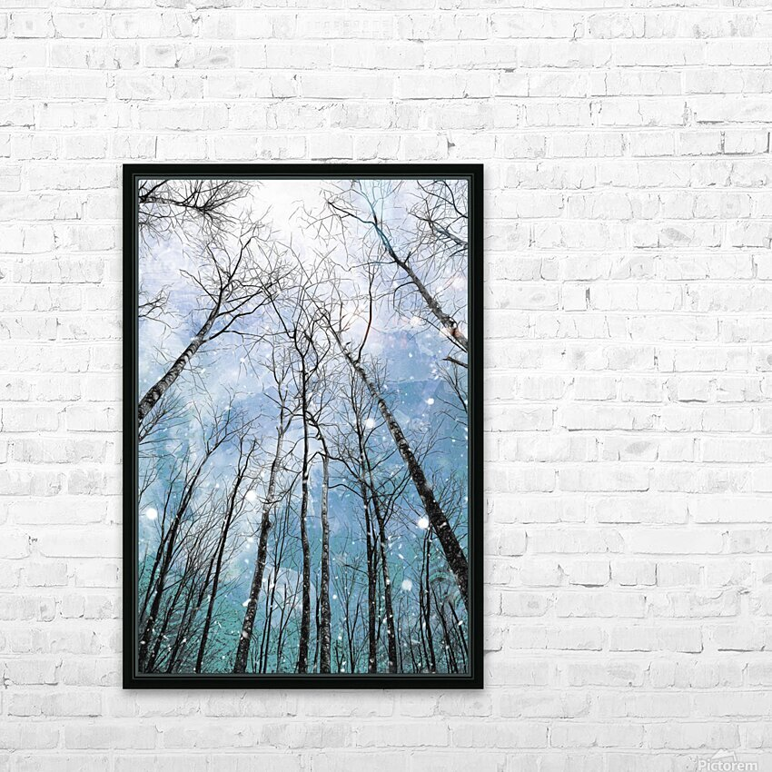 Winter Trees  HD Sublimation Metal print with Decorating Float Frame (BOX)