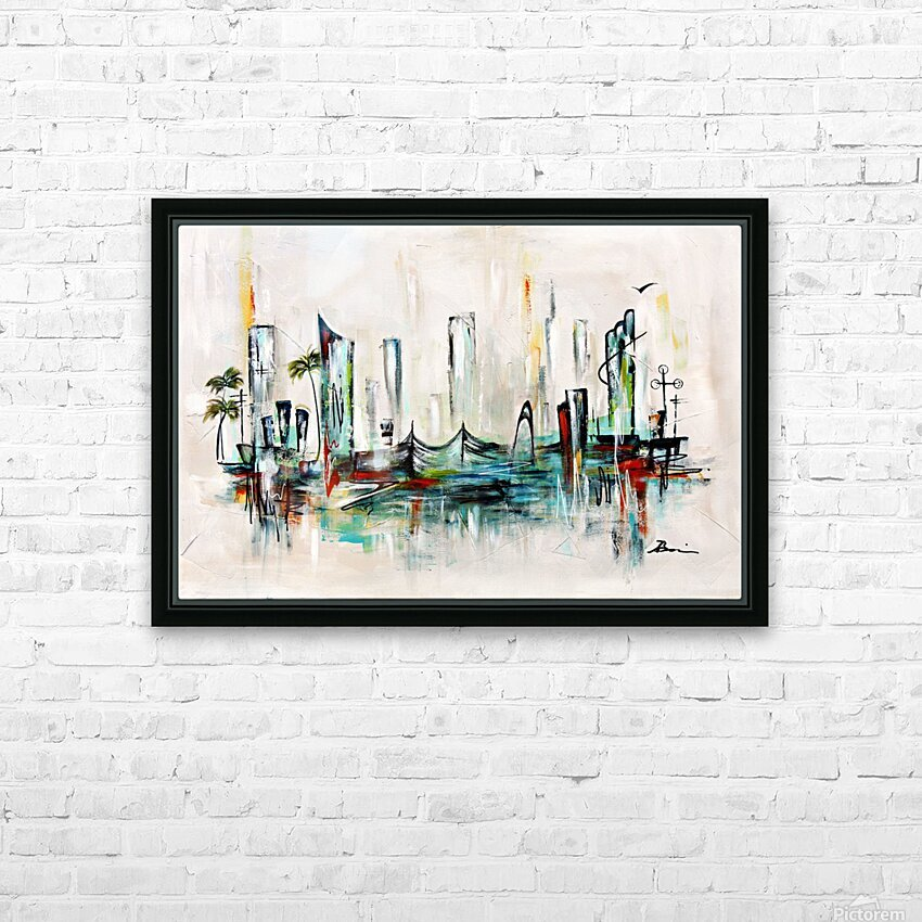 Uptown XXVII HD Sublimation Metal print with Decorating Float Frame (BOX)