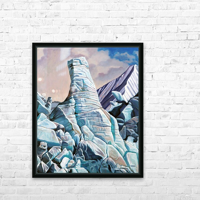 Glacier 3 HD Sublimation Metal print with Decorating Float Frame (BOX)