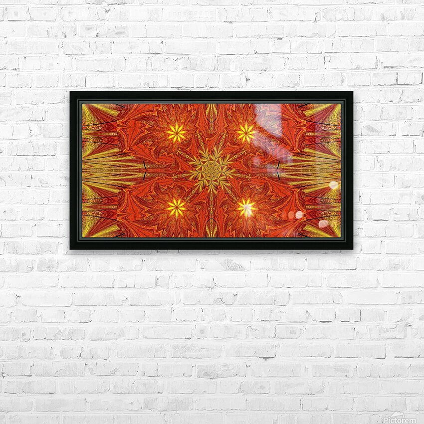 Golden Lotus In Light 4 HD Sublimation Metal print with Decorating Float Frame (BOX)