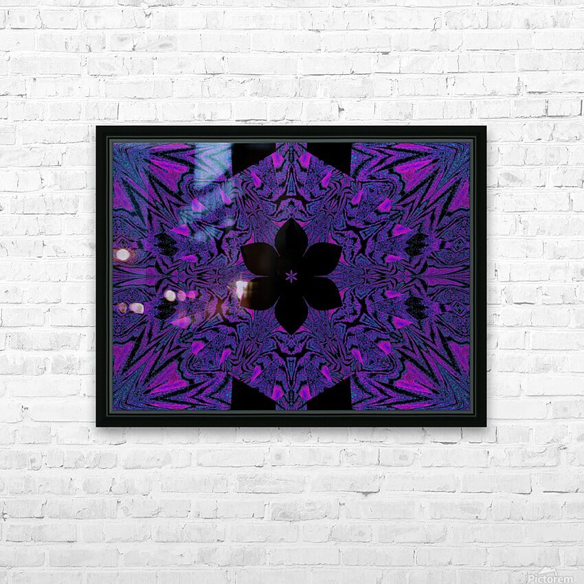 Black Purple Lotus 4 HD Sublimation Metal print with Decorating Float Frame (BOX)