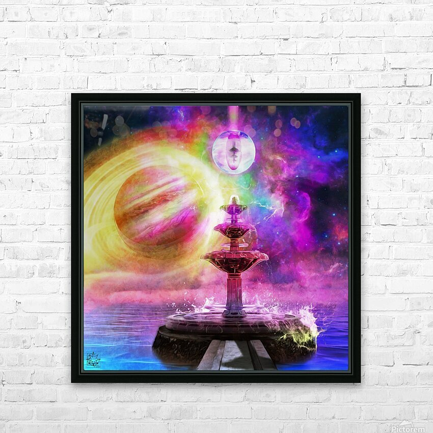 Waterborne HD Sublimation Metal print with Decorating Float Frame (BOX)