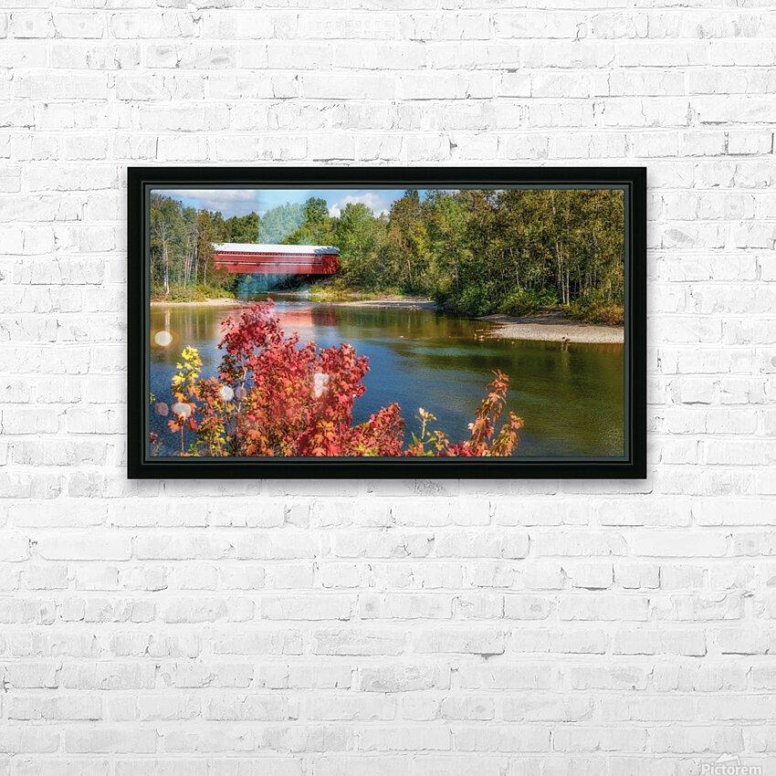Amqui Pont Beausejour 3 HD sublimation métal imprimé avec décoration flotteur cadre (boîte)
